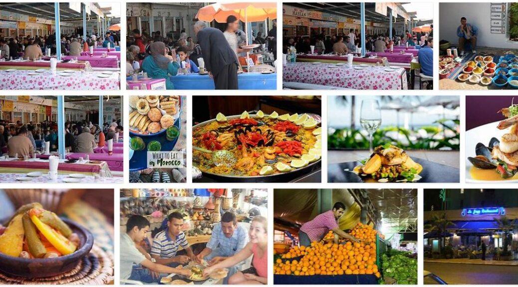 Eating in Agadir, Morocco