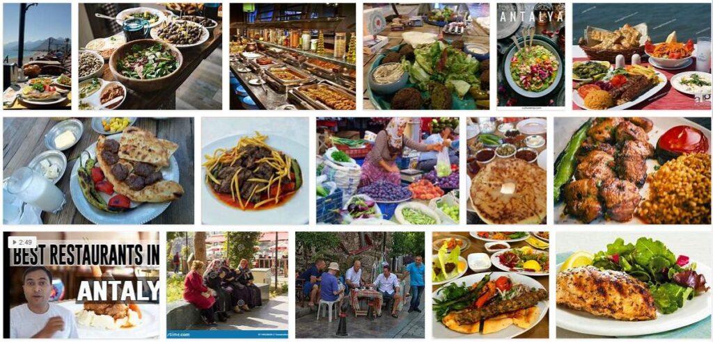 Eating in Antalya, Turkey
