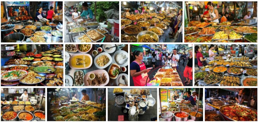 Eating in Bangkok, Thailand