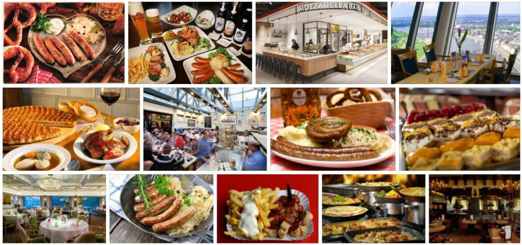 Food in Dusseldorf, Germany
