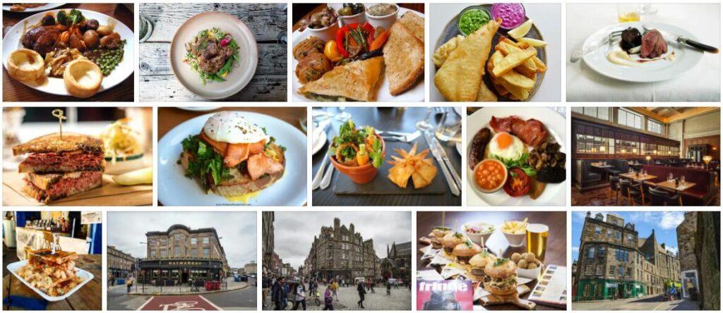 Food in Edinburgh, U.K.