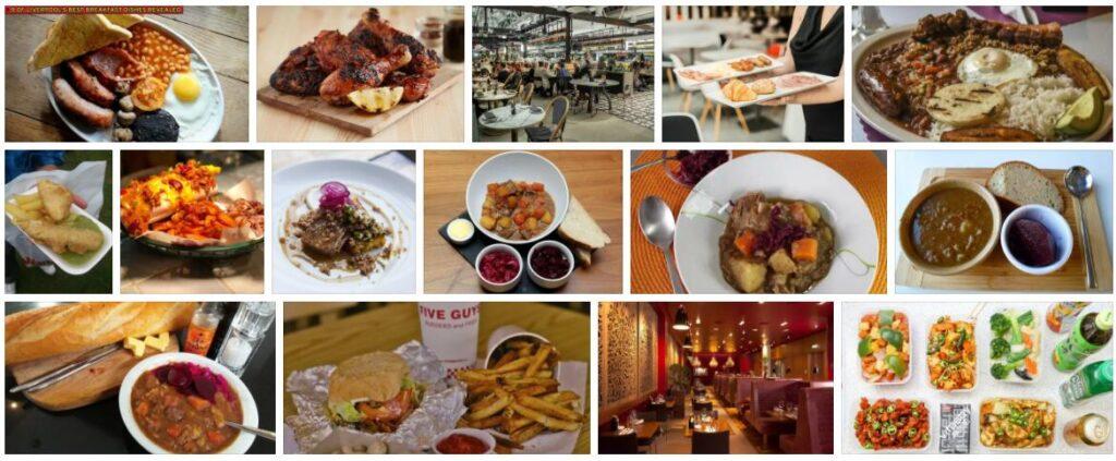 Food in Liverpool, U.K.