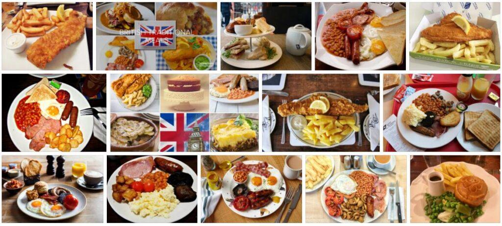 Food in London, U.K.