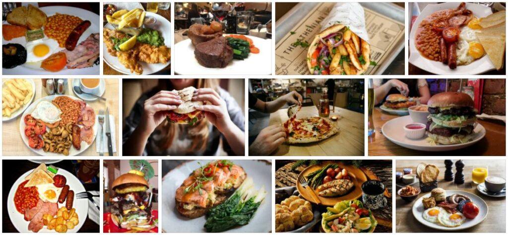 Food in Manchester, U.K.