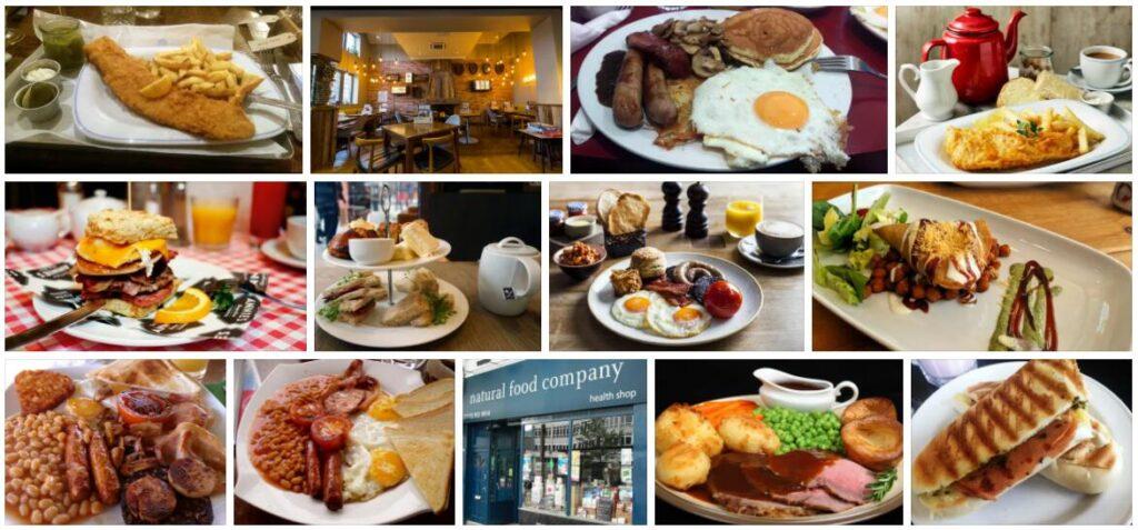 Food in Nottingham, U.K.