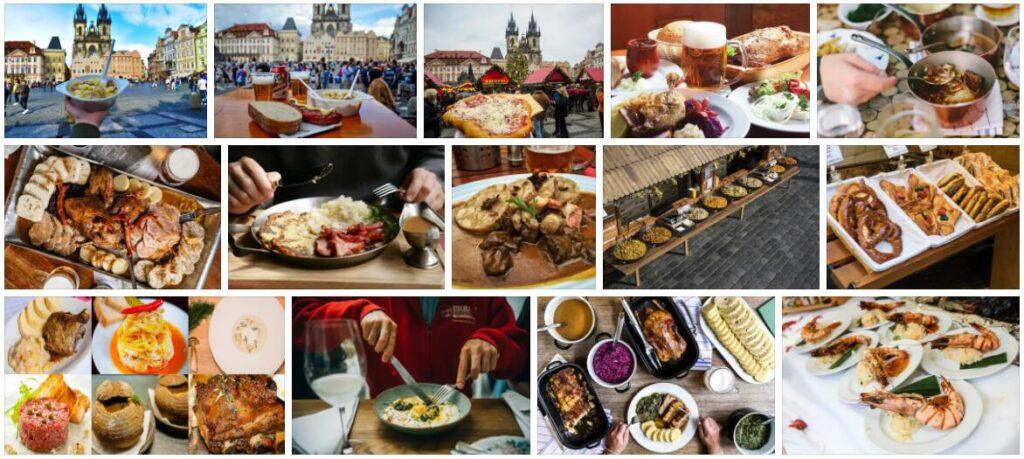 Food in Prague, Czech Republic
