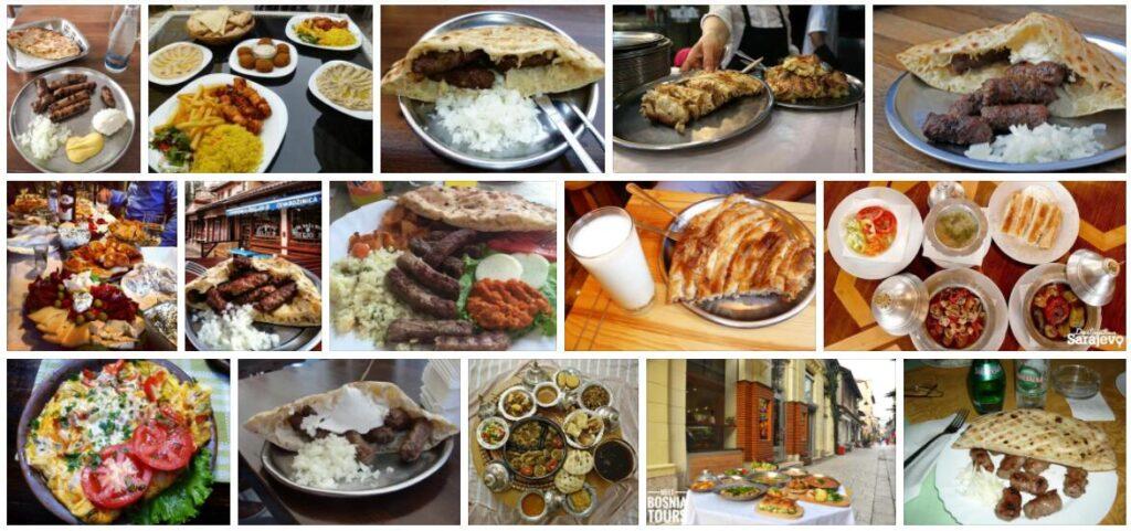 Food in Sarajevo, Bosnia and Herzegovina